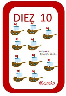 Cartas juguetes números (10)