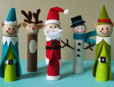 Manualidades navidad rollos papel (1)