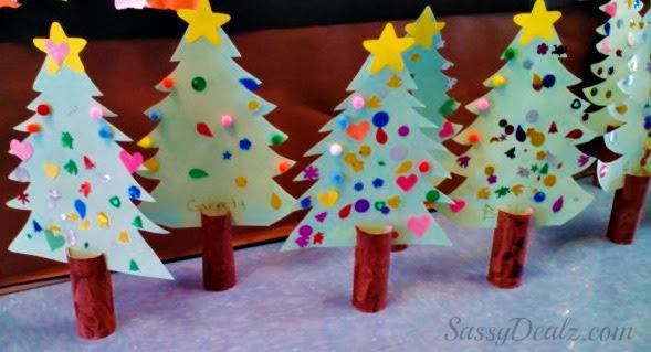 Manualidades Navidad Rollos Papel 10 Imagenes Educativas - Manualidades-de-navidad-de-papel