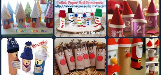 Manualidades navidad rollos papel Portada 2
