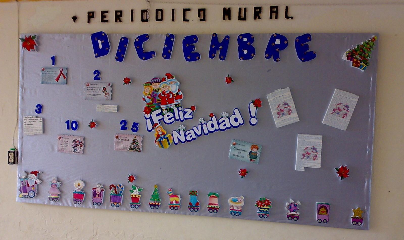 Periodico mural diciembre 3 imagenes educativas for Como elaborar un periodico mural