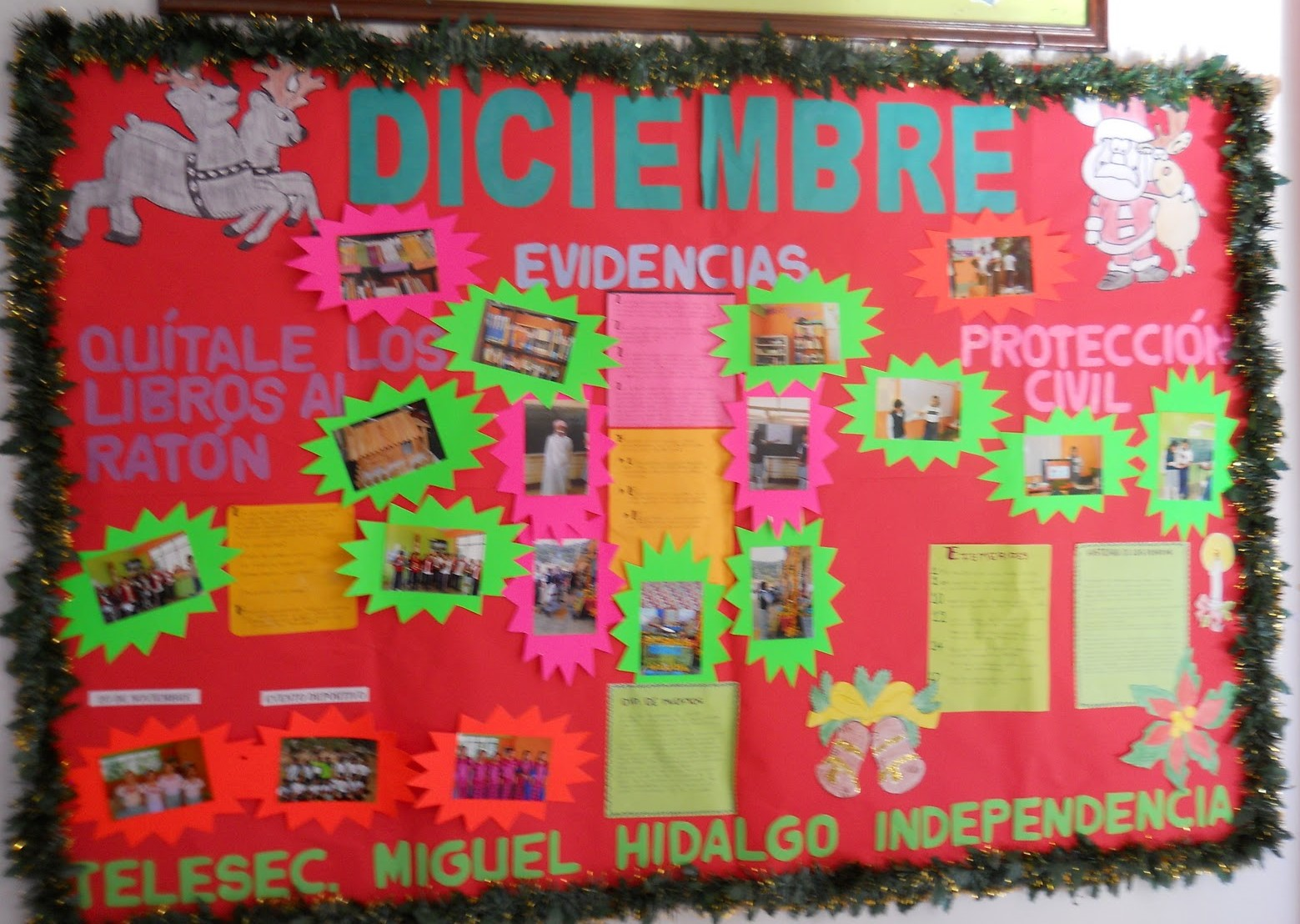 Periodico mural diciembre 6 imagenes educativas for Estructura de un periodico mural