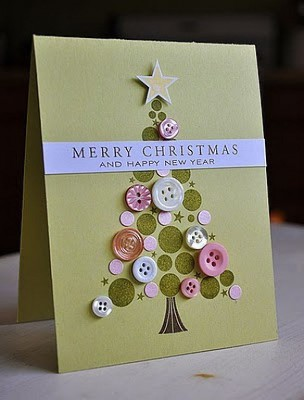 Tarjetas de Navidad Con Botones (10)