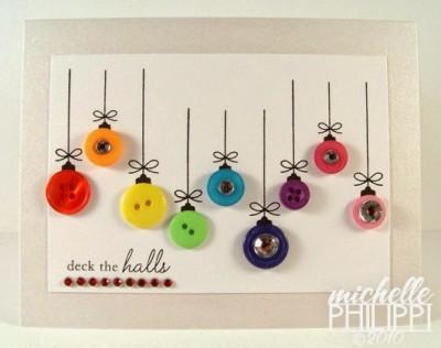 Tarjetas de Navidad Con Botones (17)