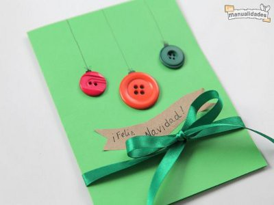 Tarjetas de Navidad Con Botones (18)