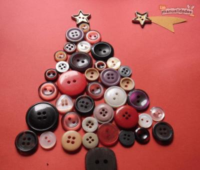 Tarjetas de Navidad Con Botones (3)