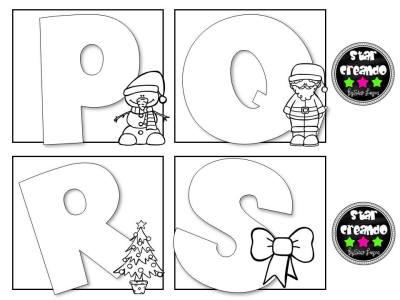 Abecedario para colorear motivos navideños (5)