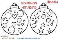 Bolas de navidad colorear (11) - Imagenes Educativas