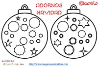 Bolas de navidad colorear (12) - Imagenes Educativas