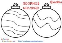 Bolas de navidad colorear (17) - Imagenes Educativas