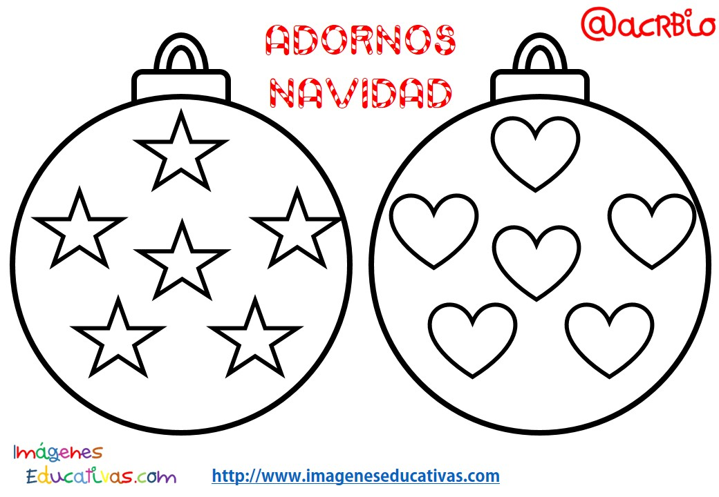 Bolas de navidad colorear 2 imagenes educativas - Figuras de navidad para pintar ...