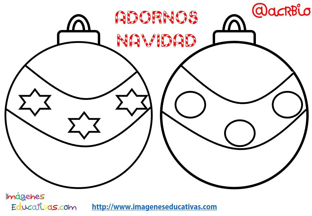 Bolas de navidad colorear 20 imagenes educativas - Bolas de navidad para ninos ...