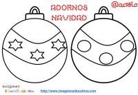 Bolas de navidad colorear (20) - Imagenes Educativas
