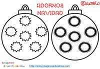 Bolas de navidad colorear (3) - Imagenes Educativas
