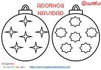 Bolas de navidad colorear (4) - Imagenes Educativas