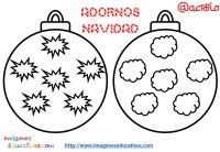 Bolas de navidad colorear (5) - Imagenes Educativas