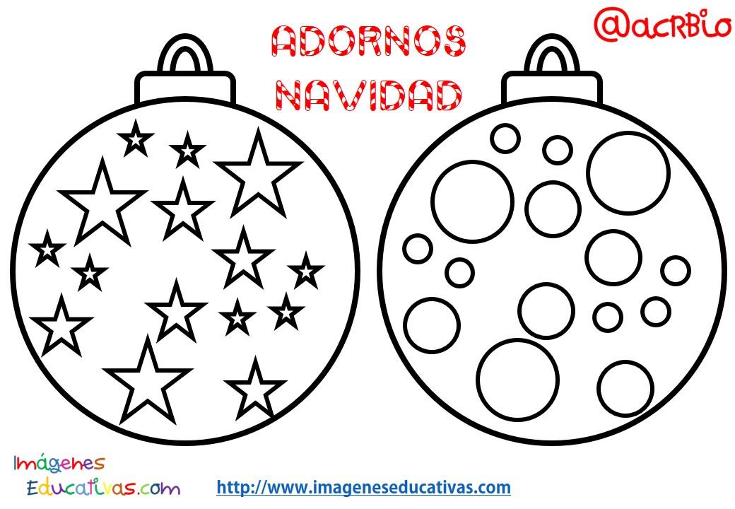 Bolas de navidad colorear 6 imagenes educativas - Dibujos originales para pintar ...