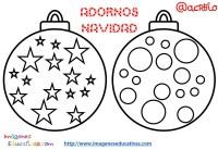 Bolas de navidad colorear (6) - Imagenes Educativas