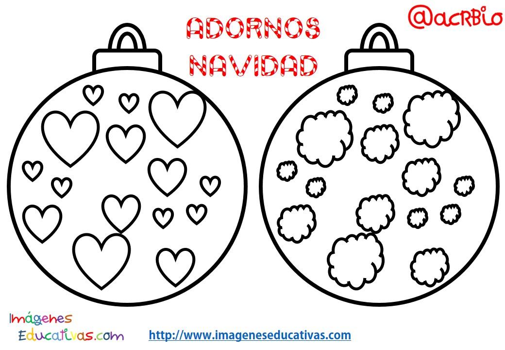 Bolas de navidad colorear (7) - Imagenes Educativas