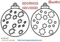 Bolas de navidad colorear (9) - Imagenes Educativas