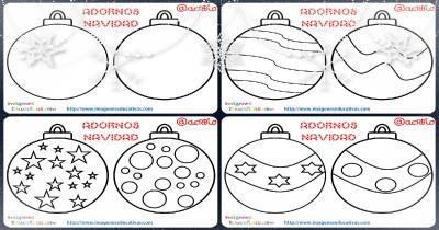 Bolas de navidad colorear Portada