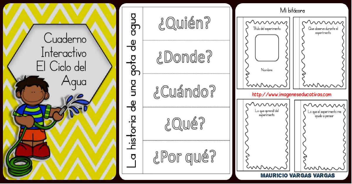 Magnifico Cuaderno Interactivo Ciclo del Agua - Imagenes Educativas