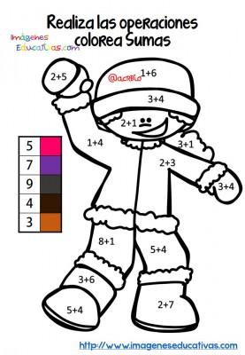 Fichas colorear sumas y restas (1)