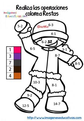 Fichas colorear sumas y restas (2)