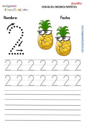 Fichas para trabajar los números (2)