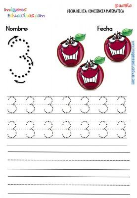 Fichas para trabajar los números (3)