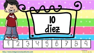Los números tarjetas para repasar letra guiada (2)