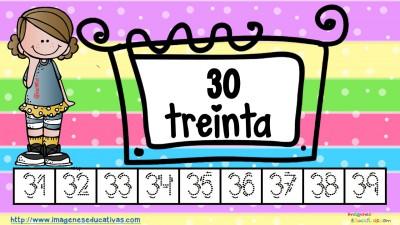 Los números tarjetas para repasar letra guiada (4)