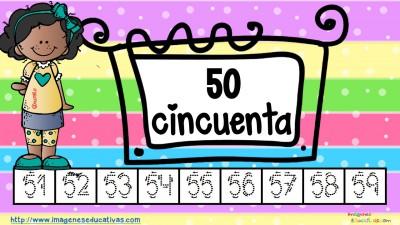 Los números tarjetas para repasar letra guiada (6)