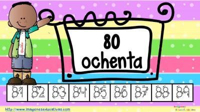Los números tarjetas para repasar letra guiada (9)