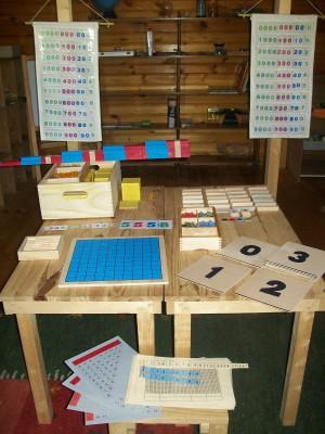 Montessori áreas del Matemáticas 5