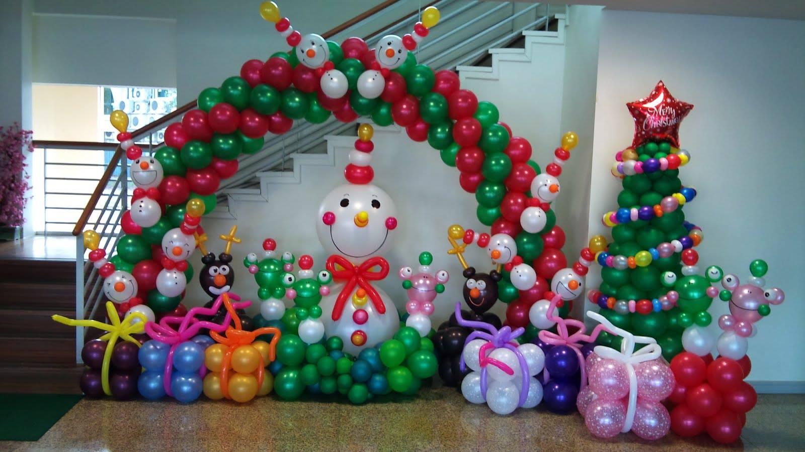 Navidad globos decoracion 9 imagenes educativas for Ambientacion para navidad