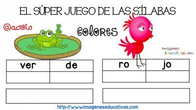 Super juego practicamos la descomposición en sílabas (3)