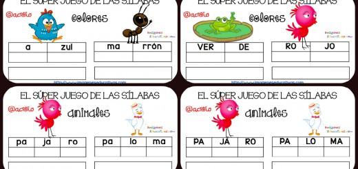 Super juego practicamos la descomposición en sílabas Portada