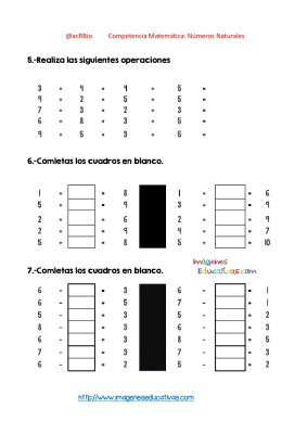 Ejercicios múltiples con números enteros (28)