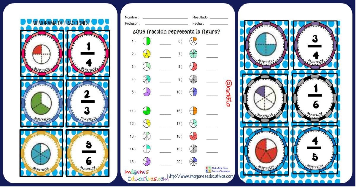 Súper Memorama De Fracciones Imagenes Educativas