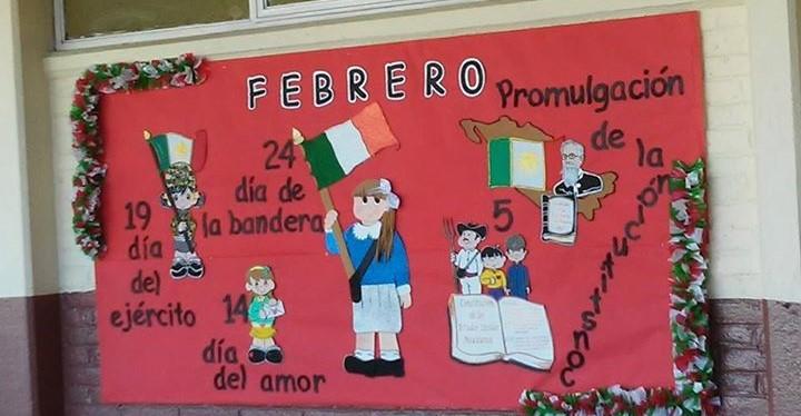 Periodico mural febrero 9 imagenes educativas for Murales infantiles para preescolar