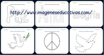 Super Cuaderno Día de la Paz y la No Violencia grafo y colorear Portada