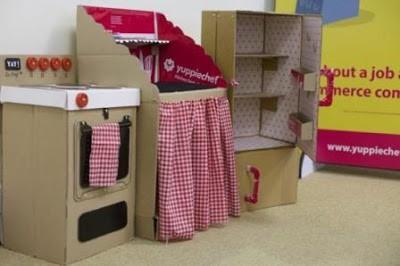20 nuevas ideas para hacer cocinas de cart n para ni os y for Muebles de carton pdf