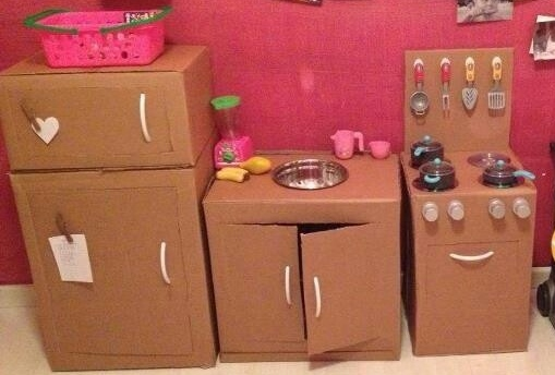 20 Nuevas Ideas para Hacer Cocinas de Cartón para niños y niñas ...