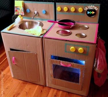 20 Nuevas Ideas Para Hacer Cocinas De Carton Para Ninos Y Ninas