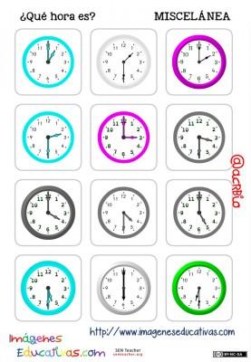 fichas de relojes analógicos. (11)