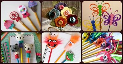 Adornos para lápices manualidades  Diy  Portada