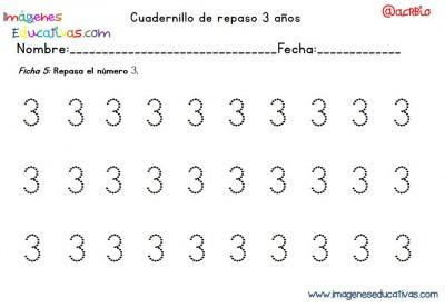 Cuadernillo complementario para 3 años, Educación Preescolar  (5)