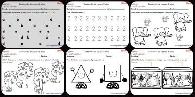 Cuadernillo complementario para 3 años, Educación Preescolar  Portada