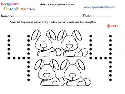 Cuadernillo complementario para 4 años, Educación Preescolar (12)